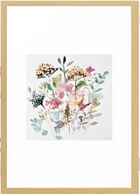 Watercolor Garden Abstract Framed Art Print - Society6