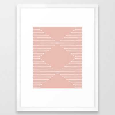 Geo / Blush Framed Art Print - Society6