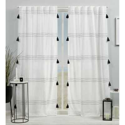 Kumsal Striped Semi Sheer Rod Pocket Curtain Panels (Set of 2) - Wayfair