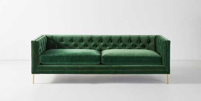 "Mina Two-Cushion Sofa - 94"" Emerald - Anthropologie"