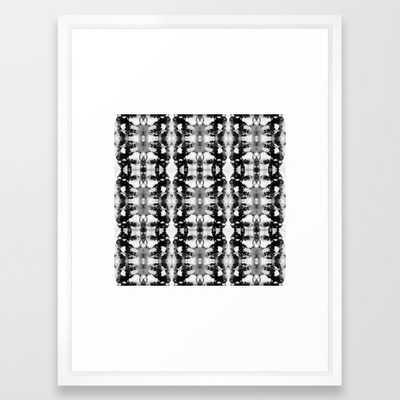 Tie-Dye Blacks & Whites Framed Art Print - Society6