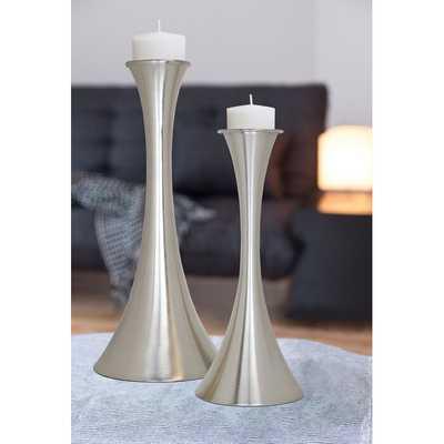 2 Piece Tall Metal Candlestick Set (Set of 2) - Wayfair