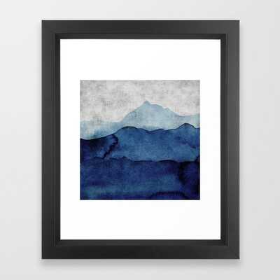Water color landscape Framed Art Print - Society6