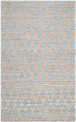 Arlo Home Hand Woven Area Rug, CAP413A, Light Blue/Gold,  6' X 6' Square - Arlo Home
