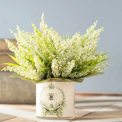 Heather Floral Arrangement in Pot - Wayfair