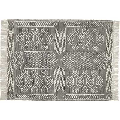 Legend Black and White Pattern Rug 8x10 - CB2