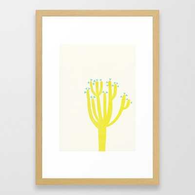 Modern Cactus Framed Art Print - 15x21, conservation natural frame - Society6