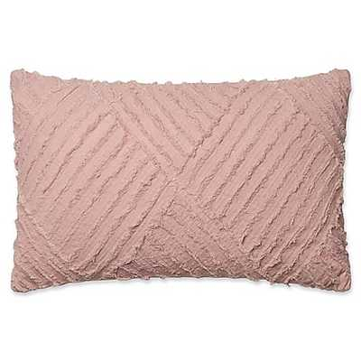 Magnolia Home by Joanna Gaines Evan Oblong Throw Pillow in Blush - Bed Bath & Beyond