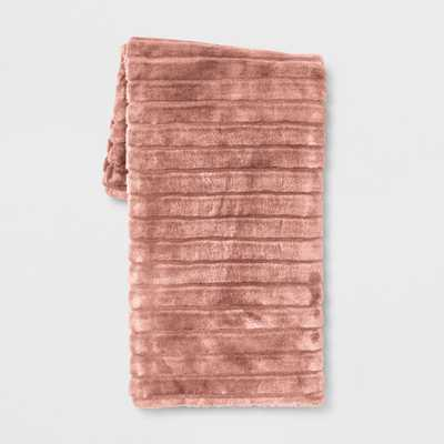 Texture Faux Fur Throw Blanket - Project 62™ - Target