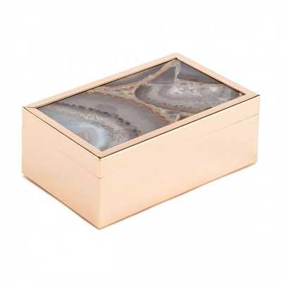 White Stone Box Sm White - Zuri Studios