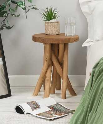 Natural Tree-Stump Side Table - Wayfair