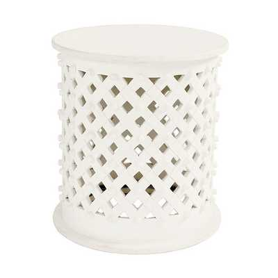Bornova Side Table - Antique White - Ballard Designs