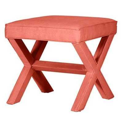 X Bench - Everyday 10oz Linen Coral - Ballard Designs