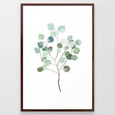 Eucalyptus Leaves Botanical Print Framed Art Print by Becky Bailey - Society6