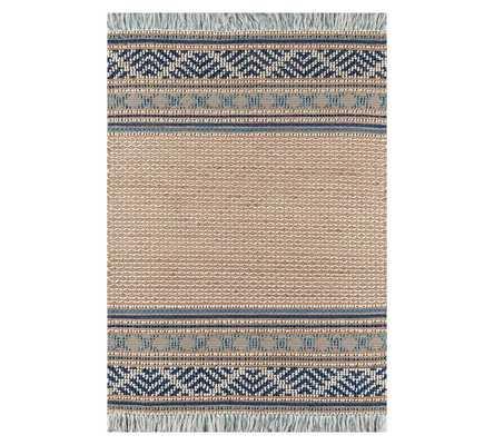 Eyre Jute Rug, Blue, 8 x 10' - Pottery Barn