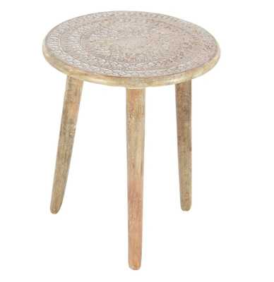 Wood Tripod Round End Table - Wayfair