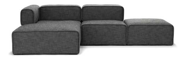 Quadra Left Sectional in Carbon Gray - Article
