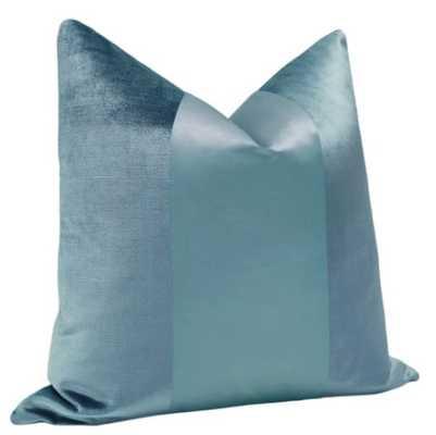 PANEL Monochromatic :: Faux Silk Velvet // Cerulean Blue - Little Design Company