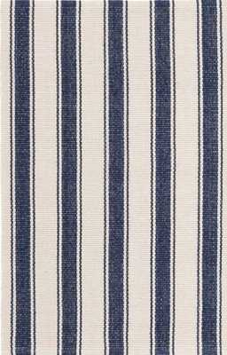 BLUE AWNING STRIPE WOVEN COTTON RUG - 9x12 - Dash and Albert