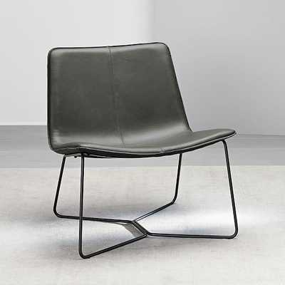 Slope Leather Lounge Chair - West Elm