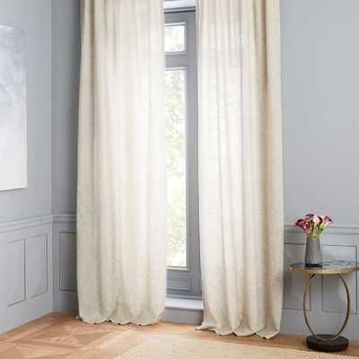 "Belgian Flax Linen Curtain - semi sheer- 96"" - West Elm"