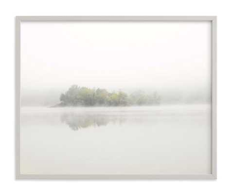 "The Island Art Print / light gray wood frame / 30"" x 24"" - Minted"
