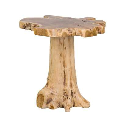 Polizzi Solid Wood Pedestal End Table - Wayfair