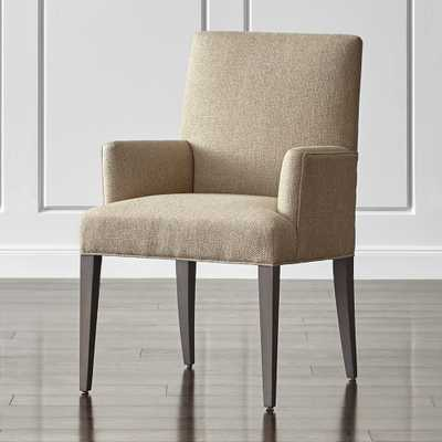 Miles Upholstered Dining Arm Chair - Crate and Barrel
