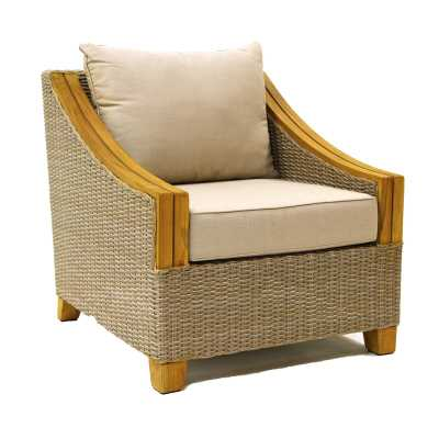 Donalsonville Teak Patio Chair with Cushions - Wayfair