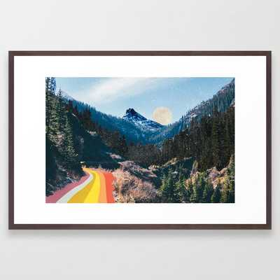 1960's Style Mountain Collage Framed Art Print - Society6