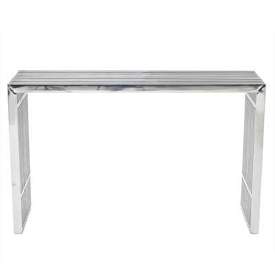 GRIDIRON CONSOLE TABLE IN SILVER - Modway Furniture