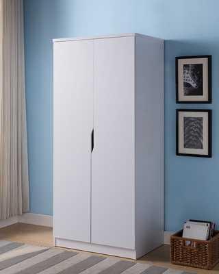 Carin Wooden Storage Cabinet Wardrobe Armoire- White - Wayfair