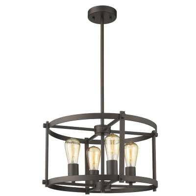 Dunnstown Farmhouse 4-Light Drum Chandelier - Wayfair