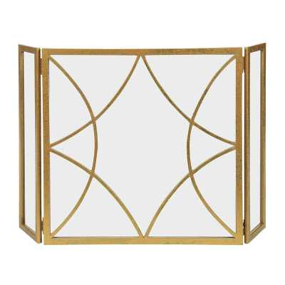 London 3 Panel Fireplace Screen - Perigold