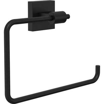 Maxted Towel Ring in Flat Black - Home Depot