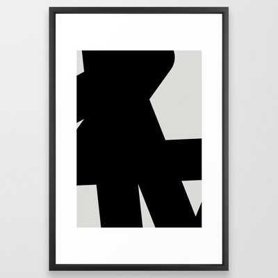 16 Abstract Form 03 Framed Art Print, 26x38 black vector frame - Society6