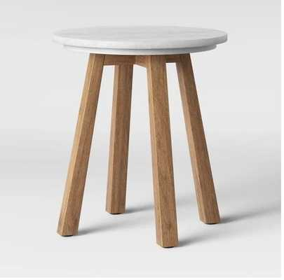 Norwich Marble Top Accent Table with Wood Base White - Threshold™ - Target