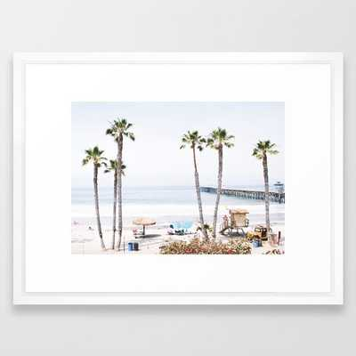Palm Beach Framed Art Print - 20 x 26 - Society6