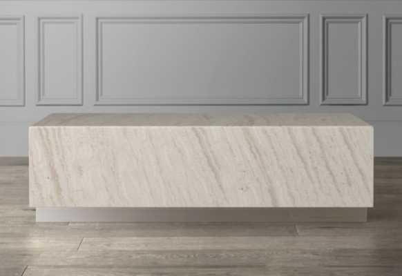 Travertine Rectangular Coffee Table - Williams Sonoma Home