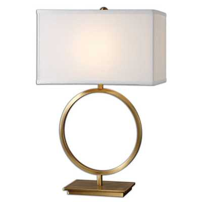 BRASS RING TABLE LAMP - Shades of Light
