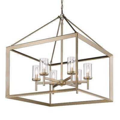 MODERN GEOMETRY CHANDELIER - 6-LIGHT / Gold - Shades of Light