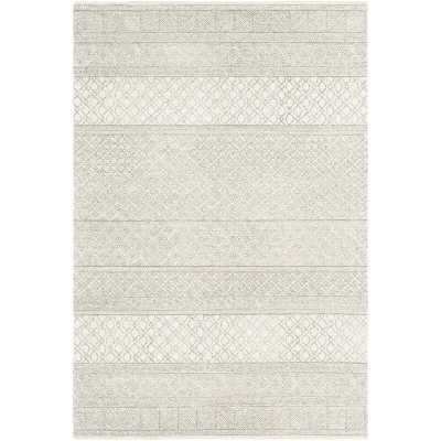 Foundry Select Pittsfield Hand-Tufted Wool Cream Area Rug - 9'x12' - Wayfair