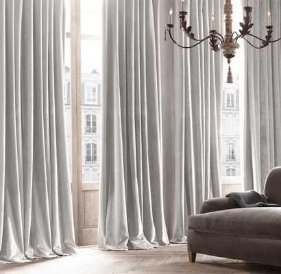VINTAGE VELVET DRAPERY - Mist- Size 50 w x 120 long - RH Modern