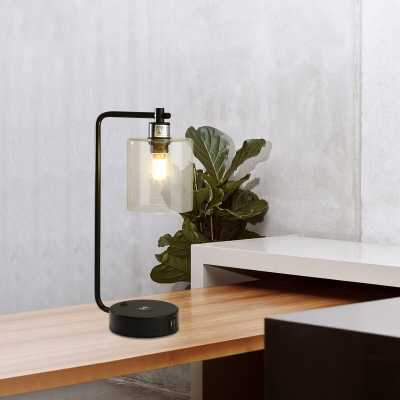 "Genavee 19"" Black Desk Lamp with USB - Wayfair"