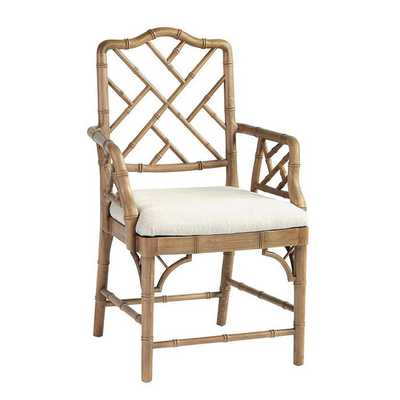 Dayna Arm Chair - Natural Oak - Ballard Designs