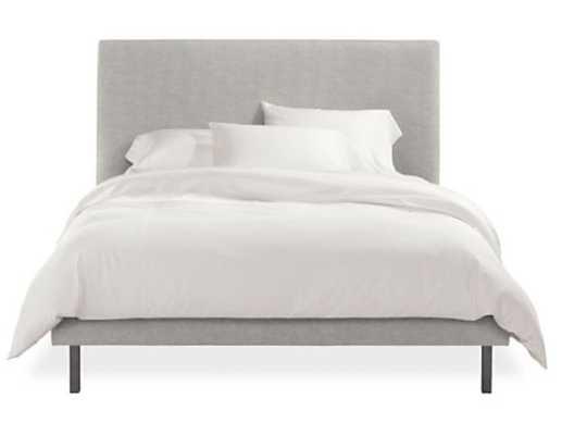 Ella Queen Bed in Destin Grey Fabric - Room & Board