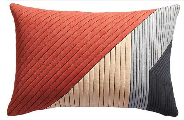 """18""""x12"""" pata pillow with down-alternative insert - CB2"""