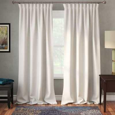 "Freemansburg Room Darkening Rod Pocket Single Curtain Panel / Cottage White / 50"" x 84"" - Wayfair"