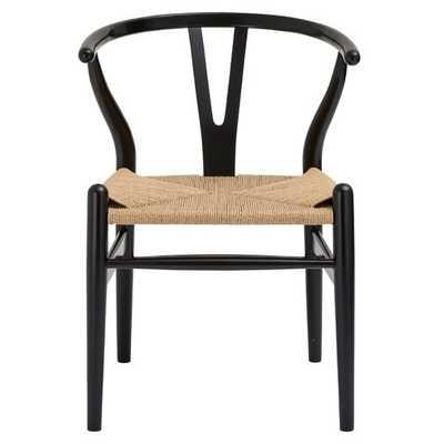 Dayanara Solid Wood Dining Chair in Black - AllModern