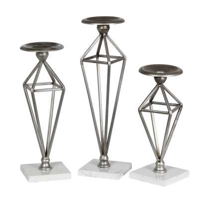 3 Piece Candlestick Set - Wayfair